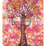 Tree Of Life Tapestry Mandala Wall Hanging Indian designer colorful design cotton wall decor tapestry