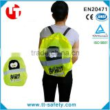 wholesale high visibility kid protection reflective drawstring bag cover child safety products