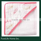 SZPLH Eco-friendly soft hand feeling baby muslin cotton hooded towel                                                                         Quality Choice