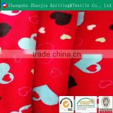 Fashion wholesale customized car seat upholstery 100% polyester printed coral fleece fabric