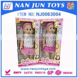 high quality 2015 new products real feellike plastic baby doll for kids