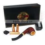 2015 Classical design top quality vapor wood e cigarette e pipe DSE601 electric smoking pipe with good price