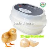 Hot sale !!! High quality Electric Mini chicken egg incubator JN12 egg hatching machine price/ 12 egg hatchers
