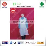 High quality disposable plastic aprons PP apron OEM manufacturer