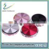 2014 best diamond power bank, portable round power bank , make up mirror power bank
