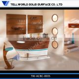2016 latest design boat shape mini bar counter with home design
