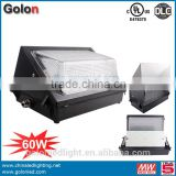 60w led wall light with CE driver ip54 CE RoHS 3 years warranty wall bracket light fitting wall mount led light