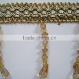 Hand Made Beaded Fringe For Curtain Decorative