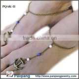 Fashion metal chain handmade antique brass anchor anklet foot jewelry