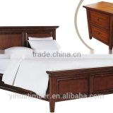 Latest modern style bedroom furniture set was made from solid wood and MDF board for bedroom furniture sets