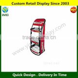 Retail Shop Display Stand With 3 Fixed Wire Shelves For Display Coco Drink Bottles YM5-717