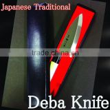 wholesale japanese sushi chef kitchenware kitchen cookware stainless steel wooden knives chef deba knife