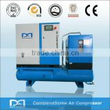 11KW 1.7M3/min AC electric air cooled rotary type screw type air compressed air system with air dryer air tank
