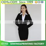 Wholesale high quality office ladies formal dress suits business suits coat and skirt