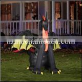 inflatable bat/airblown inflatables animated fire dragon with wings halloween decoration