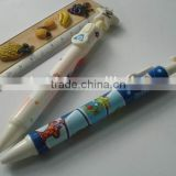 novelty heart and star shape logo printed retractable gel ink pen