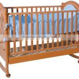 2014 Antique style solid baby bed swinging crib