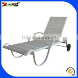 aluminum PE rattan/wicker swim pool chaise lounge suit ZT-4027L