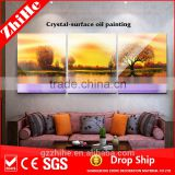 wholesale dropshipping handmade beautiful scenery oil painting on canvas beautiful scenery wall painting 3 for home decoration