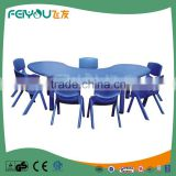 2015 Children Furniture Professional Manufacturer Of Moon Shape Children'S Plastic Table