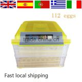 Fully automatic 100 eggs incubator CE approved poultry egg incubator great quality solar power chicken egg incubator
