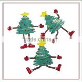Custom Bendable Christmas Tree people figure Christmas Tree People Bendables toys/OEM Assorted styles 4 inches