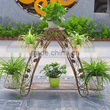 Metal plant holder Wrought Iron Plant Stands, flower holder for home &garden(XY1701)