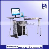 folding computer table with book rack CPU holder MGD-1391