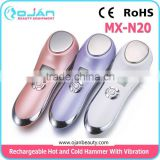 1 sec ultra-fast heating and cooling Hot and Cold Hammer Facial Machine Hot and Cold Facial Vibration Massager