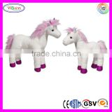 D667 Custom Animal Horse Walking Animal Stuffed Plush Electric Horse Toy