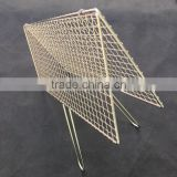 barbeque bbq wire grill clamp/non stick stainless steel BBQ grill mesh/rectangle BBQ cooking wire net