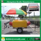 colorful fast food trailer with awning for sale