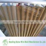China supplier wire metal mesh curtain fabric/silver metal mesh curtain