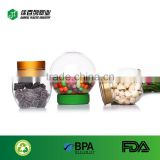 For children packaging candys PET bottle hot sale food storage jar customize logo ball plastic container