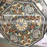 Octagonal Marble Pietra Dura Dining Table Top