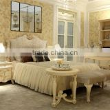 French style classic design kids princess wooden carved bed design in ivory color - BF07-70354
