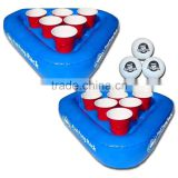 Swimming Pool Inflatable Beer Pong Game / Floating Table