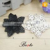 Fashion rhinestone center handmade leather sandal flower for shoes
