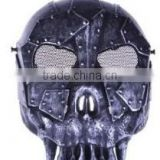 Tactical Silver Black Skull Skeleton Army Airsoft Paintball Bb Gun Full Face Game Protect Mask