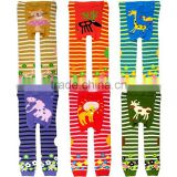 Latest Fall Infant Leggings Striped Cartoon Printed Child PP Pants For Children Knitted Pants Wholesale SC40822-29
