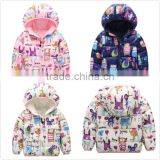 Cartoon Doodles Winter Baby Clothes Hooded Down Coats For Children Girls And Boy M7082802