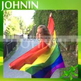 wholesale Custom Polyester Printed cheap 3x5 rainbow flag cape