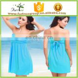 new sexy open back one piece wrap beach dress swim wear bikini cover up summer dress online