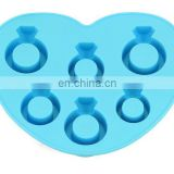 Diamond Ring Silicone Ice Cube Tray Chocolate Soap Tray Mold Silicone Party maker
