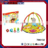 new Fun Animal Baby Infant Gym Play Mat Indoor Floor Crawl Soft Blanket Mat With Toy