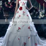 satin wedding gown, white Fit and flare wedding gown for women