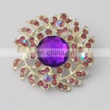 high quality cheap wholesale crystal stone custom brooch lapel pin flower