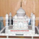 Natural White Marble Taj Mahal Gift Model