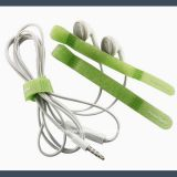made in china q type hook and loop velcro cable tie,green