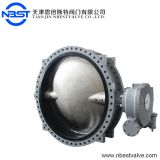 Standard Worm Gear Operated Butterfly Valve U Flange Type Dry Powder